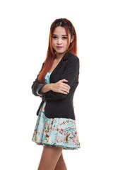 Beautiful young Asian business woman