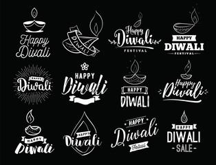 Happy Diwali typogrpahy