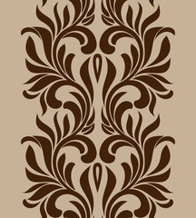 Seamless brown pattern. Element for design. Vintage style.