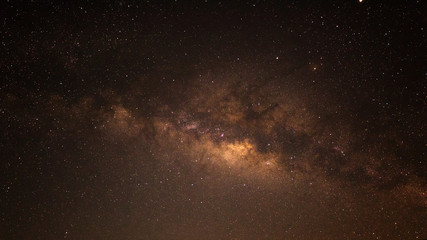Beautiful sky at night with milky way, Wonderful space with galaxy for background