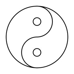Yin Yang symbol black outline