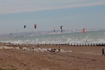 Kite surfing in Sussex