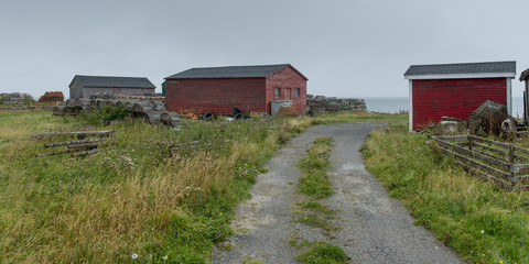 Houses at fishing village, Sally's Cove, Gros Morne National Par