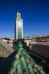 Minarett über Fés