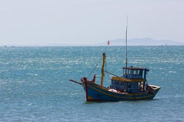 nautical fishing coracles on sea, tribal boats