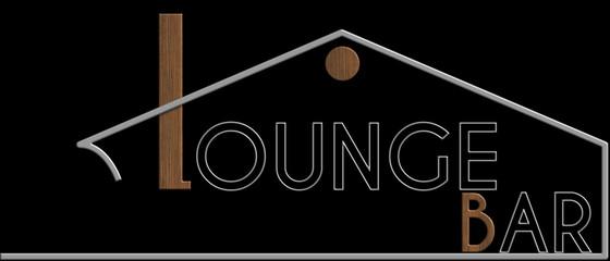 Lounge Bar con il simbolo edificio metallo e legno
