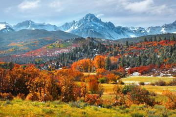 Sneffles peak in Colorado in autumn time Wall mural