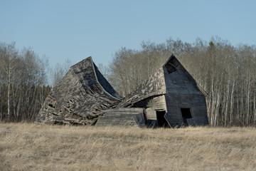 Abandoned barn in a field, Manitoba, Canada