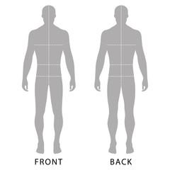 Man's template figure