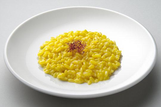 Saffron risotto dish