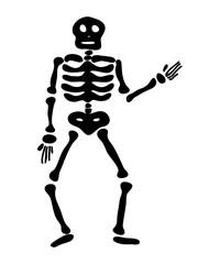 halloween skeleton vector symbol icon design.