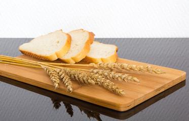 fresh bread on the wooden board