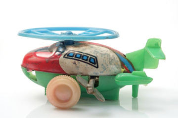 Toy helicopter / Toy helicopter on white background.