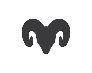 Rams head silhouette