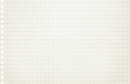 Squared light grey, white copybook, notebook paper texture