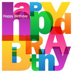 """HAPPY BIRTHDAY"" Vector Card"