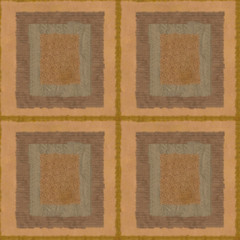 seamless texture of many squares of paper sand brown tiles