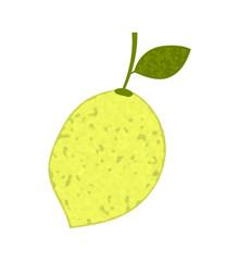 Lemon with sprig and leaf
