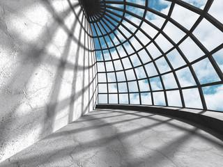 Concrete walls empty room interior. Abstract architecture