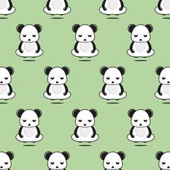 zen panda semless patern