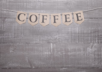 Wooden timber texture board grunge  coffee sign