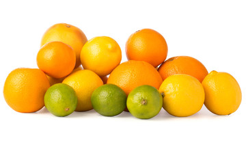 Cutout of a Collection of Citrus Fruits
