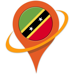 Saint kitts and nevis Flag pin/pointer map icon.