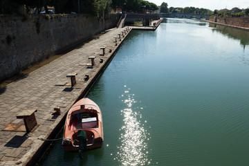 boat moored at the dock of Rimini.tif