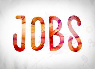 Jobs Concept Watercolor Word Art