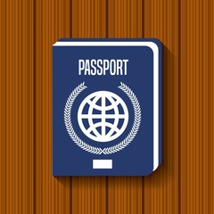 passport document travel icon vector illustration design