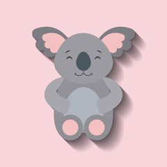 tender cute koala bear card icon vector illustration design