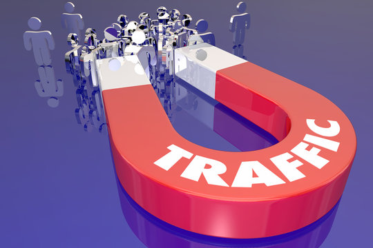 Traffic Magnet Attract Audience Viewers Customers 3d Illustratio