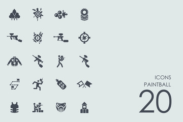 Set of paintball icons