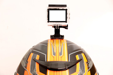 But the Action Cam camera on the helmet.