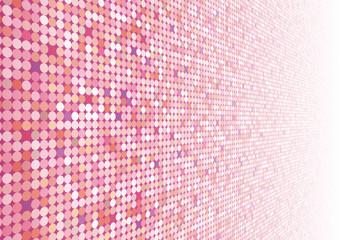 ドット柄の壁紙(ピンク)