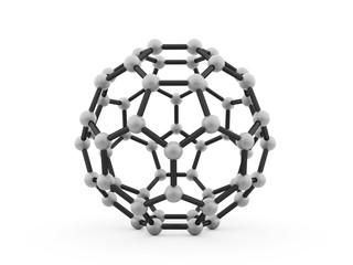 Molecular mesh structure rendered