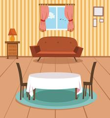 Vector illustration of Dining Room.