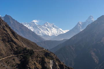 Everest, Lhotse and Ama Dablam view, Everest region