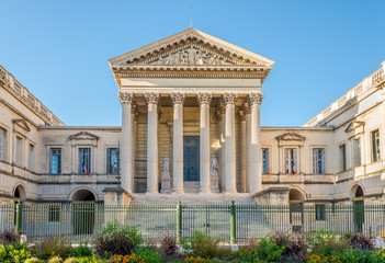 View at the Justice Palace in Montpellier