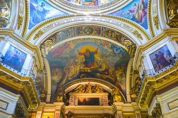 Decorations in St Isaac's Cathedral