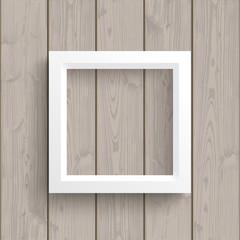 Wall Mural - White Frame Wood