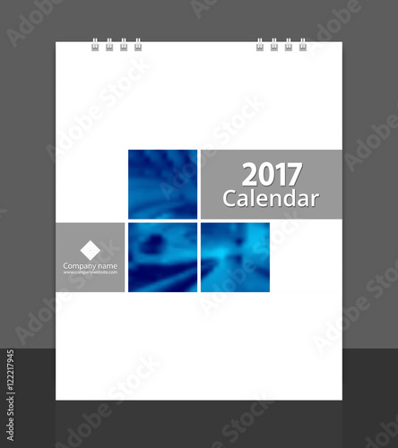 Cover Calendar Design Vector : Quot desk calendar cover design layout template vector