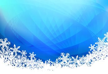 Christmas snow blue