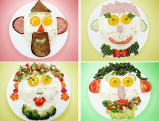 creative egg breakfast for child face form