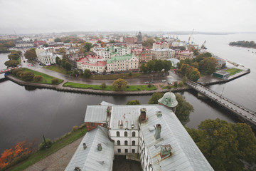 View of the old city from the Vyborg Castle tower