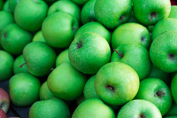 green apples fruits background