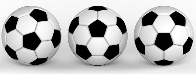 Soccer ball. 3D illustration. 3D CG.