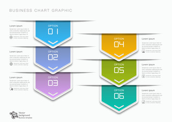 Flow Chart, 6-Step Process #Vector Graphic