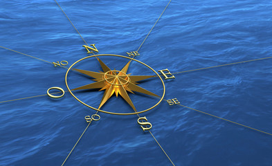 ROSE DES VENTS - Navigation - 3D