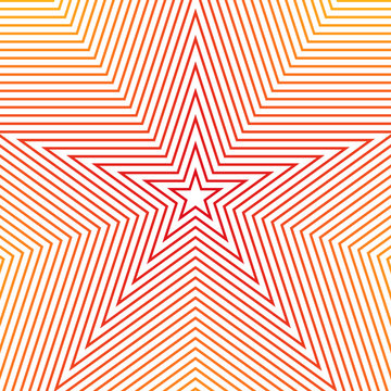 Concentric stars on a white background vector illustration
